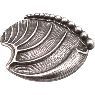 Carl Ruopoli Vintage STERLING Silver Brooch Black Starr & Gorham Pin Organic 34g