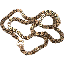 """Antique Victorian Gold Filled Fancy Link Chain 18.75"""" Necklace GF/RGP 22.9 Grams"""