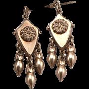 Antique Victorian Gold Filled Fancy Earrings Long Dangle Drop Gold Filled GF/RGP