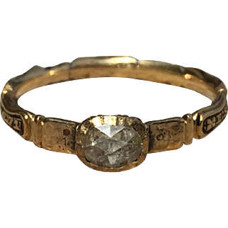 1735 Memento Mori Ring With Rose Cut Diamond