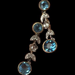 Vintage Aquamarine Drop Earrings