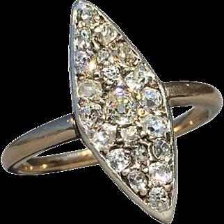 Antique Diamond Navette Ring