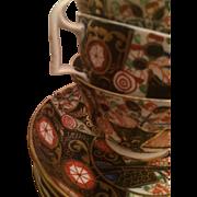 Royal Crown Derby Imari Tea Cups & Saucers, Set of 4