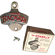 1950s Tome Bacardi Wall Mount Bottle Opener, New Old Stock (in Original Box)