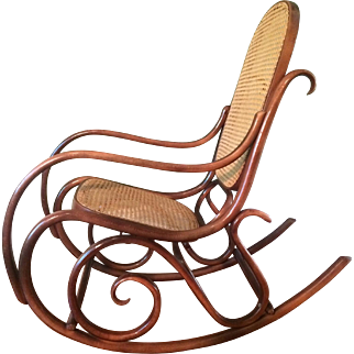 Authentic Thonet Bentwood Two-Tone Rocker