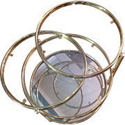 Milo Baughman-Style Brass Swivel Table