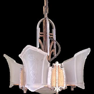 Art Deco 7-Light Chandelier