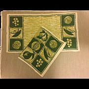Vintage Linen Placements & Napkins, Set of Two