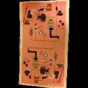Vintage De Antonio Tea Towel, 100% Belgium Linen