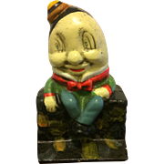 "Vintage ""Humpty Dumpty"" Cast Iron Bank from the 1960s"