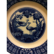 "Johnson Bros. ""Mongolia"" Flow Blue Dessert Plate, circa 1910-1920"