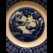 "Johnson Bros. ""Mongolia"" Flow Blue Dessert Plate, circa 1910-1920"