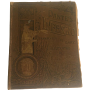 1885 Hardcover of Dante's Inferno, Illustrated by Gustave Dore