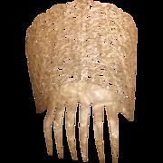 Antique Pierced Hair Comb, circa 1910s
