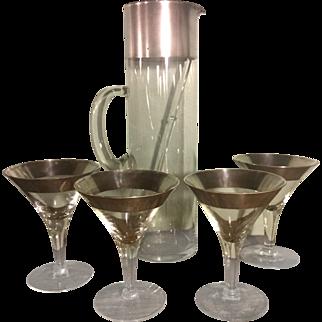 6-Piece Mid Century Dorothy Thorpe Cocktail Set
