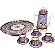 "10-Piece Royal Worcester ""Royal Lily"" Demitasse Set, c 1911"