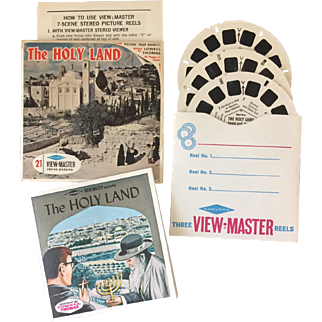 """1960s Sawyer's View-Master Picture Reel Packet, """"The Holy Land"""""""