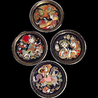 "Bjorn Wiinblad Ltd Edition ""Aladin"" for Rosenthal Decorative Plates - Set of 4"