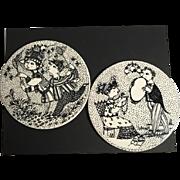 Bjorn Wiinblad Wall Plaques - Set of 2
