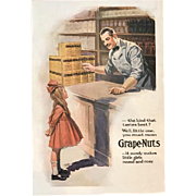1919 Grape Nuts Advertisement