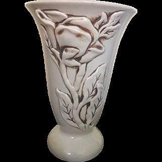"""Red Wing """"Magnolia"""" Vase #1216, circa 1940"""
