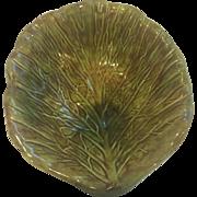 Vintage Holland Mold Majolica Cabbage Leaf Bowl
