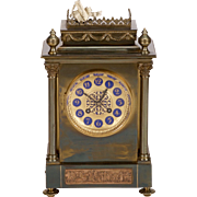 19th Century French Gilt Brass 8-Day Mantel Clock