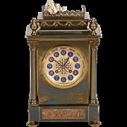 19th Century French Gilt Brass 8-Day Mantel Clock