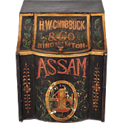 Extra Large 19th Century H.W. Chubbuck & Co. Assam Tole Tea Tin