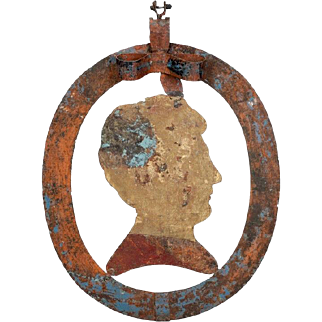 19th Century Tole and Iron Silhouette Store Sign