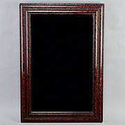 19th Century Dutch Ebonised and Faux Tortoise Framed Wall Mirror