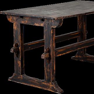18th Century Swedish Trestle Table c.1780
