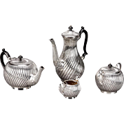 English Four Piece Silver Plate Coffee & Tea Service