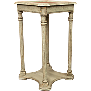 Antique French Painted Tiered Side Table or Plant Stand