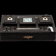 Anglo Raj Ebony Desk Set With Bone Accents