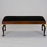 Antique French Empire Style Bench with Ormolu Mounts c.1900