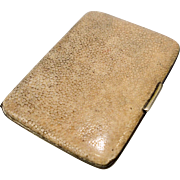 Vintage Art Deco Shagreen Gents Cigarette Card Case c.1930s