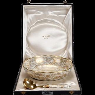 Le Tallec of Paris Gilded Porcelain Serving Set in Presentation Box