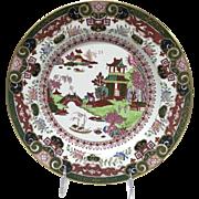 "19th Century Ashworth Ironstone Masons Pekin Japan B6107 10.25"" Plate"