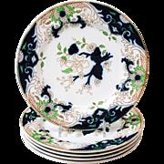 "5 Matsumai Royal Doulton Set (5) 7.5"" Salad Side Plates England"