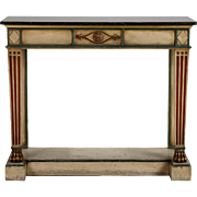 19th Century Venetian Console with Original Paint and Dark Marble Top