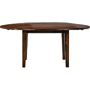 19th Century English Round Chestnut Farmhouse Dining Table
