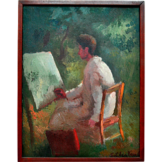 Martin Baer Portrait by Esteban Vicente