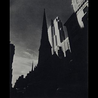 Cityscape Photogravure by Nickolas Muray