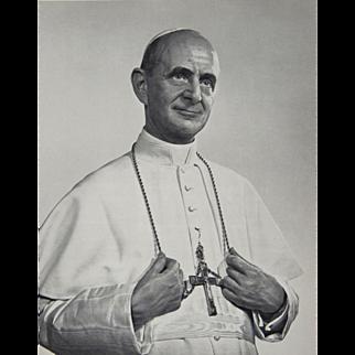 Pope Paul VI Photogravure by Yousuf Karsh