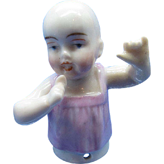 Antique Half Doll Collection Baby Doll Pin Cushion, Arms Away