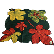 Carol Stanley Green Leaf Handkerchief New with Tag