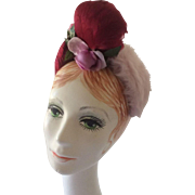 G. Howard Hodge Soft Pink Felt Hat with Feather Trim