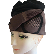 Soft Sculpted Black and Taupe Hat by Cynthia Hadesman