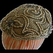 Bramson Vintage Beaded Cream Color Hat